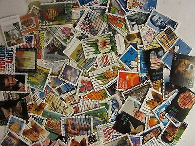 Super Us Postage Stamp Lot Used All Different 30 To 39 Cent Stamps Free Shipping