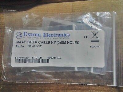 Pass Thru Kabel (Extron 70-317-12 MAAP cptv cable kt (2) small holes Pass through thru cord )