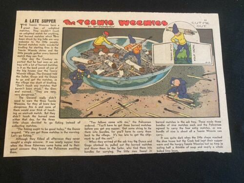 #09 THE TEENIE WEENIES by William Donahey Sunday Tab Half Page October 12, 1947