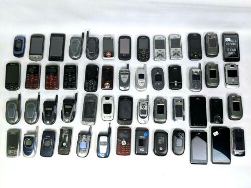 Lot of 52 phones | flip phones | smartphones | D