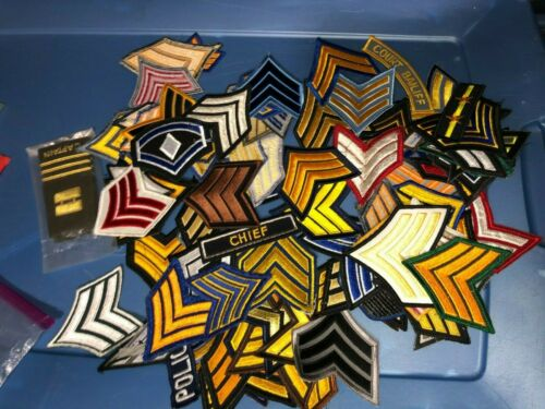 87 Assorted POLICE & SHERIFF Rank Patches