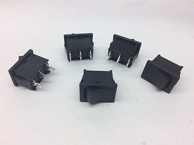 5pc Rocker Switch Spdt On-on 10a 125v Replace Ck Dm Series