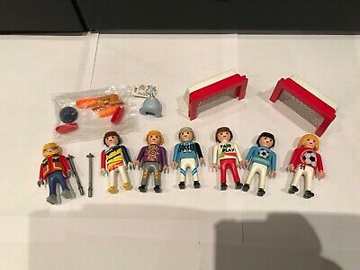 Vintage Playmobil bundle figures Sport football winter skiing accessories