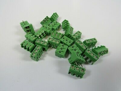 25 New Phoenix Terminal Block - 3pos - Top Entry - 5mm - Pcb 1935323