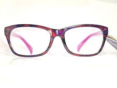 5th and Madison Jordana Red Rainbow Pink Premium Reading Glasses Foster Grant (Madison Glasses)