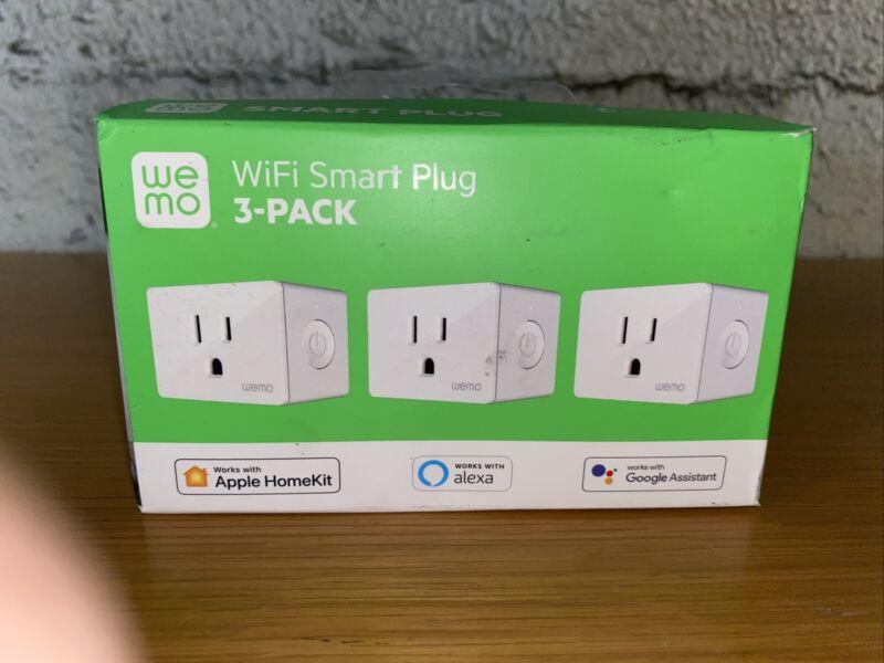 WeMo WiFi Smart Plug 3-Pack (Work W/ Apple HomeKit, Alexa, Google Assistant)