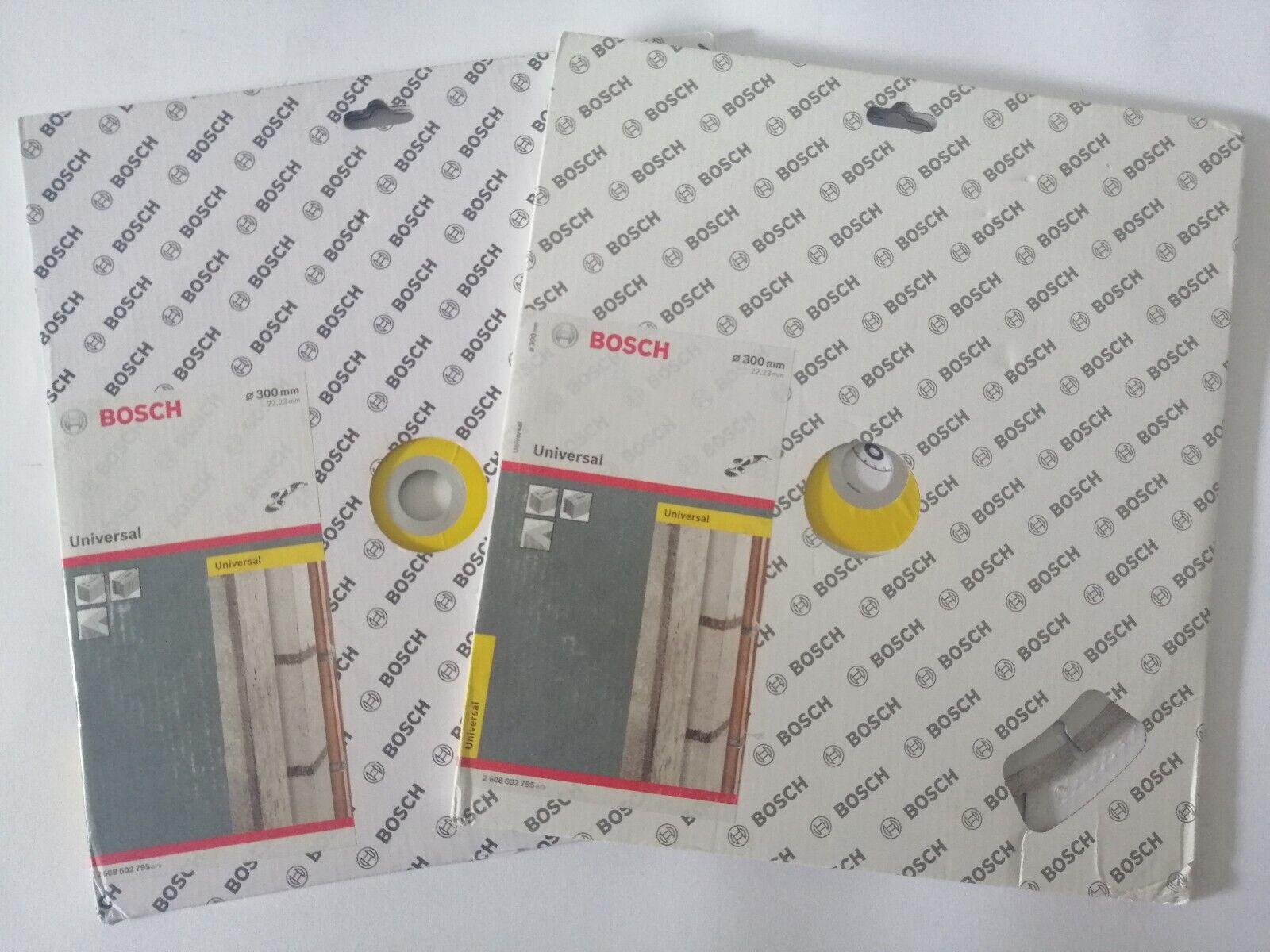 Bosch 3 Stück Diamanttrennscheibe 300mm x 22,23mm / Porenbeton Frischbeton