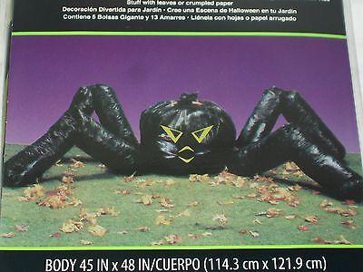 Spider Leaf Bag (Halloween Black Spider Leaf Trash Bag 45