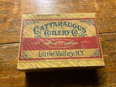 Cattaraugus Cutlery Pocket Knives Box Vintage Antique Knife NY antique
