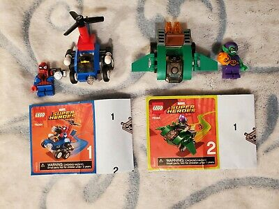 LEGO 76064 Marvel Heroes Mighty Micros SPIDER-MAN vs GREEN GOBLIN Preowned