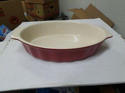 Good Cook 04489 OvenFresh Stoneware Ceramic Casserole Dish, 1.75 quart, Red Good Cook Ceramic