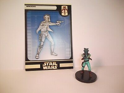 Star Wars Miniatures - Greedo 55/60 + Card - Rare - Rebel Storm