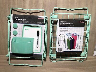 Lockermate•7 Pc Standard Size Locker Kit•Extra Stackable Shelf Included•Teal•NEW