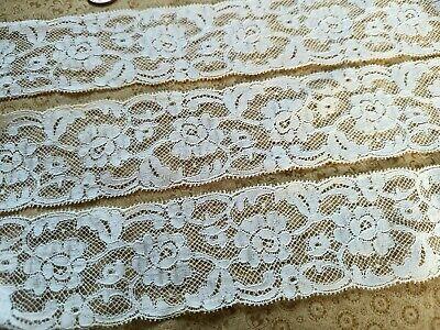 Vintage Floral Mesh Insertion Lace 34 Wide