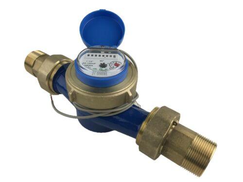 """DAE AS-150mP 1-1/2"""" Water Meter, Pulse Output, Cu meter + 1-1/2"""" NPT Couplings"""