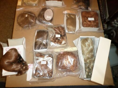 "LOT 13 NEW Doll Wigs Size 13-14"" & 15-16"""