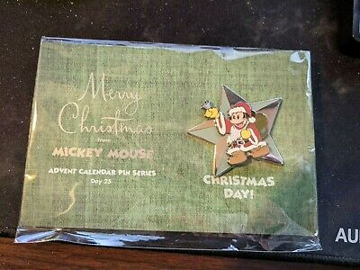 2003 Disney Advent Calendar Pin MICKEY MOUSE Christmas Day 25 LE 1500 SEALED