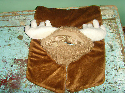 Baby infant toddler Halloween costume Lodge moose mount fake plush photo - Infant Moose Costume