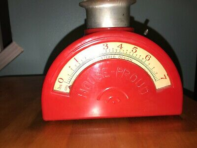 Vintage Original 1940s Red House Proud Kitchen Farm Seeds Scale