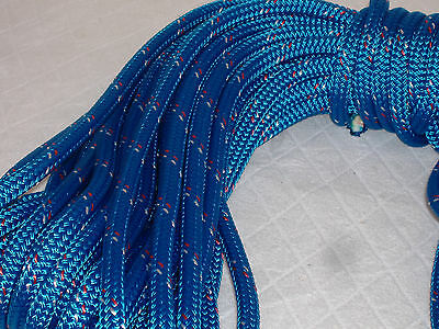 "Double Braid Polyester 1/2""x 100 feet yacht braid halyard line blue"