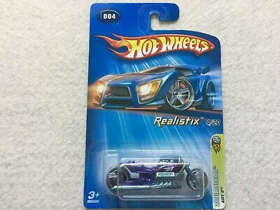 Purple Airy 8 Realistix Motorcycle     Hot Wheels