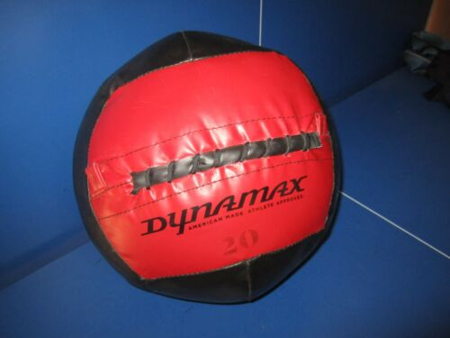 rare 20 pound DYNAMAX Red/Black Exercise Medicine Ball American Made Free Ship