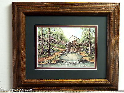 OLD MILL PICTURE FRAMED DOUBLE MATTED 8X10