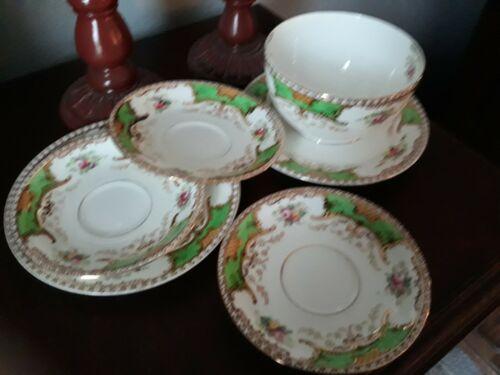 Vintage Radfords China Made in Fenton England Floral Saucers, Plates & Bowl