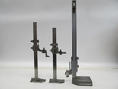 Lot Of 3 12 Vernier Height Gages - Starrett 454 Brown Sharpe 585 Yuasa