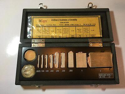 Igaging Micrometer Calibration Set Gage Block Optical N.i.s.t. Nist Traceble