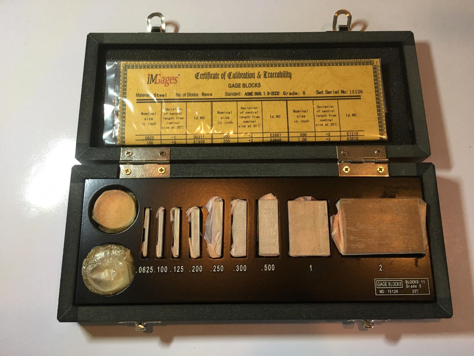 iGaging Micrometer Calibration Set Gage Block + Optical N.I.