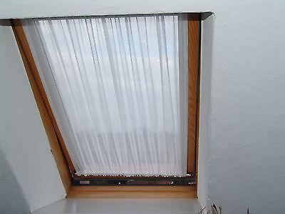 Scheibengardine Weiß Dachfenster Velux Gardinen  Scheibengardinen