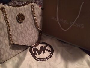 White Michael Kors purse with tags NEW