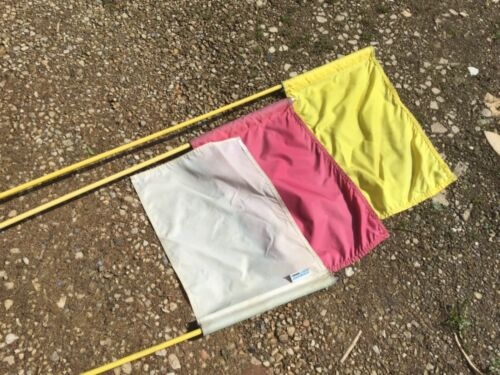 Used Golf Flag Stick, set of 3 Flagsticks (flags Included) 85 inch .