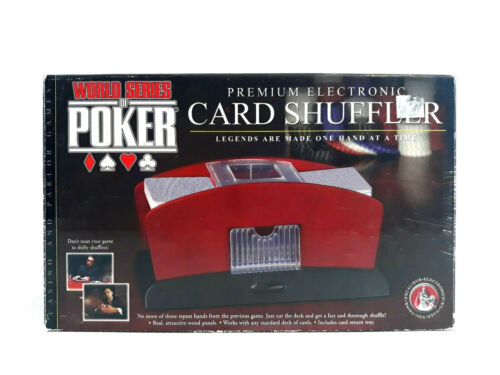 World Series of Poker Electronic Card Shuffler 2 Deck Red Premium