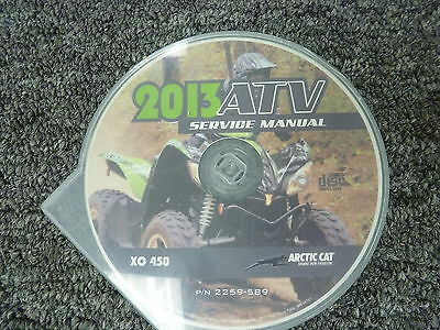 2013 Arctic Cat Model XC 450 4X4 ATV Shop Service Repair Manual CD P/N 2259-589
