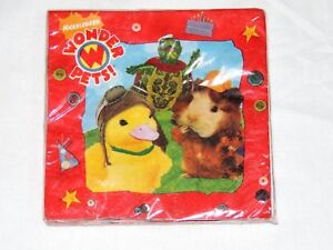WONDER PETS 16- PAPER LUNCH NAPKINS  , BIRTHDAY-CHILD   PARTY SUPPLIES