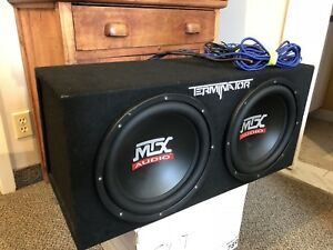 Subwoofer MTX Audio 2x 12po