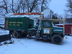Forestry 50ft boom truck