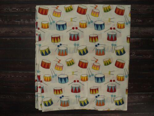 IKEA Vitaminer Trumma White Multi Color Drum Print Crib Toddler Duvet Cover NEW