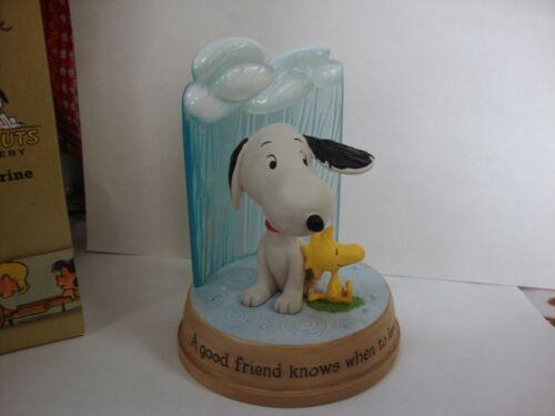 Hallmark Peanuts Gallery Figurine Snoopy Protecting Woodstock From the Rain 2011