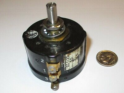 Helipot Model Sc1125 3-turn Potentiometer 50 Ohm 3 Watt Refurbished