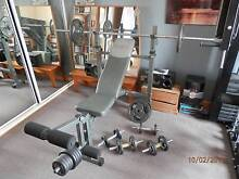 Professional Weight Bench.70 kgs weights including dum bells Hobart CBD Hobart City Preview