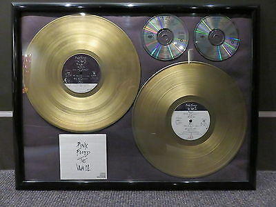 PINK FLOYD THE WALL GOLD ALBUM PLAQUE