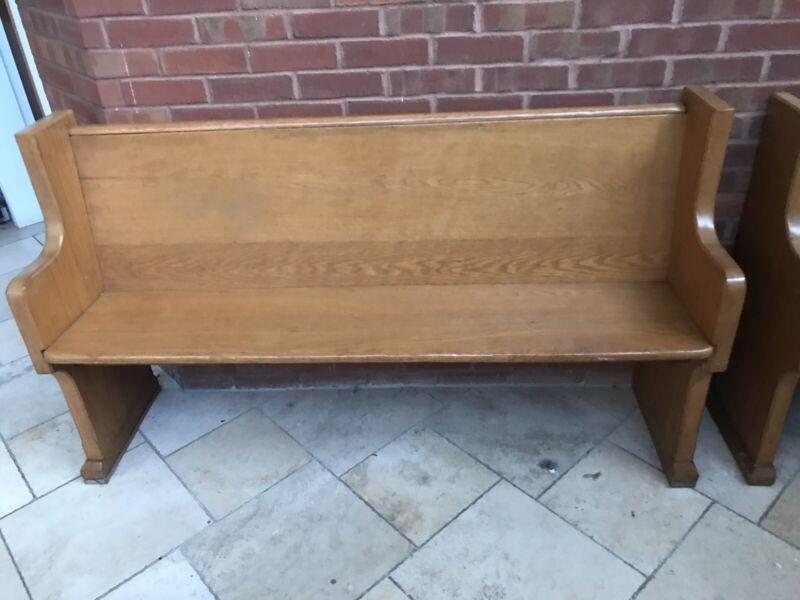 Solid Oak Church Pew, (Price listed is per bench or best offer )