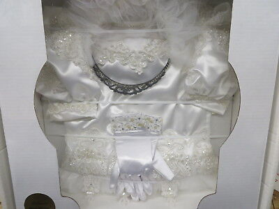FIRST HOLY COMMUNION outfit with GLOVES & TIARA BEADED PEARLS heirloomed sealed](First Holy Communion Tiaras)
