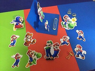 stickers for birthday party bag filler Nintendo Wii decal  (Mario Bros Party Dekorationen)