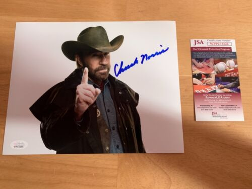 Chuck Norris 2 Autographed 8x10 Photo JSA Witness