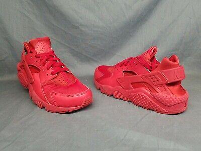c972bf297eab Nike Men s Air Huarache Running Sneakers Mesh Triple Red Size 10 FLOOR  MODEL!