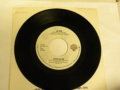Take On Me by A-Ha (Warner Bros. 92 90117 near mint 45 record)
